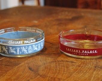 Set of 2 Vintage Caesars Palace Ashtrays