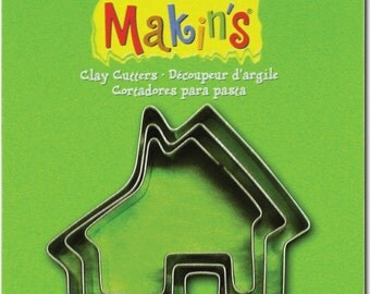 Makin's Clay Cutters (3 Pack) - House - Cookie Cutters