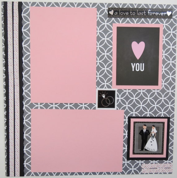 Love To Last Forever 12x12 Premade Wedding Scrapbook