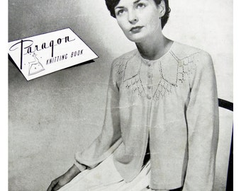 Vintage Mid-century 1940's Paragon Knitting Book No. 73 featuring 8 New Bed Jacket patterns
