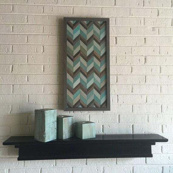 Chevron Wood Wall Decor : Chevron wood wall art reclaimed