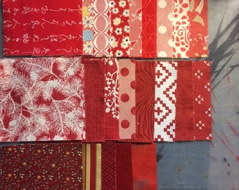 5in Quilting Squares - Reds
