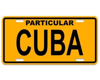 Cuba License Plates - Chapa Cuba