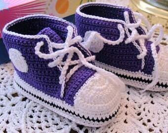 Infant Converse Tennis Shoes ( 3-6 months) purple