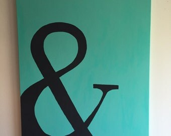 "Ampersand ""&"" canvas painting"