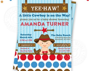 cowboy baby shower printable invitation custom cowboy baby invitation printable western baby shower invitation