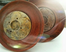 WOOD and SOAPSTONE Incense Burner Tray & Ash Catcher - Altar - Sacred Space - Home Decor