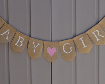 Girl Nursery Bunting, Baby Girl Bunting, Rustic Nursery Bunting, Baby Bunting Garland, Baby Shower Decor, Its a Girl Sign, Photo Prop