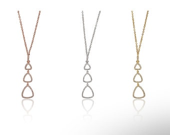 Drop Triple Necklace 925 / Sterling Silver