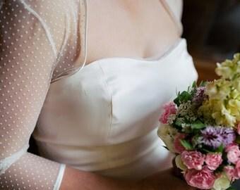 Lucy Spot Tulle Bridal Bolero / Shrug Jacket