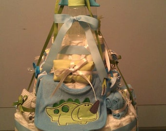 Baby Diaper Cake- It's Dino Time