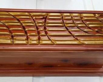 Essential Oils Wooden Storage Box (Ripples)