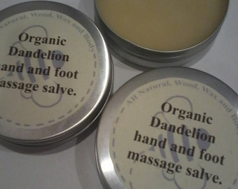Organic dandelion hand and foot massage salve