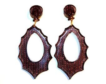 Acrylic earrings - 1960ies