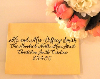 Southern Wedding Calligraphy Envelope Addressing - Kelsey Script