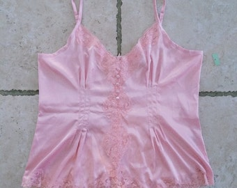 DALIA Pretty in Pink Lacy Vintage Night Shirt