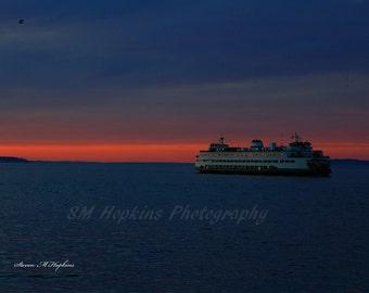 Evening Ferry on Puget Sound