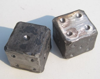 Blacksmith Handmade Forged Iron Dice