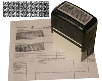 Self-Inking Privacy Stamp ID Protection
