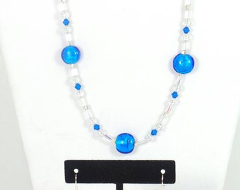 Item #4047 Blue Necklace and Earring Set