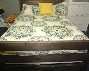 Rustic Wood Bed  Frame/Headboard