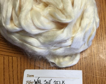 White Soy Silk Top for Spinning