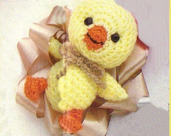 Crochet E-book Tutorial to make this little baby bow chick