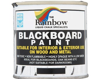 Blackboard Paint 250ml - Water-Based Ideal for Creating or Restoring Chalkboards