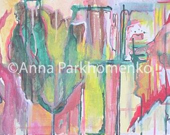 "Acrylic painting ""Bleeding Heart"" (2008)"