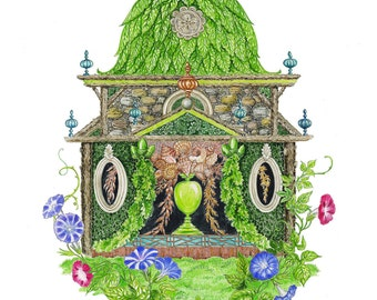 Imaginary Garden Folly Giclee Print