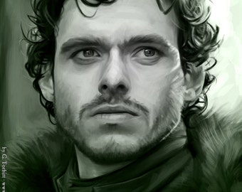 Robb Stark, Game of Thrones art print