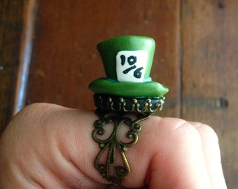 Hatter Polymer Clay Ring