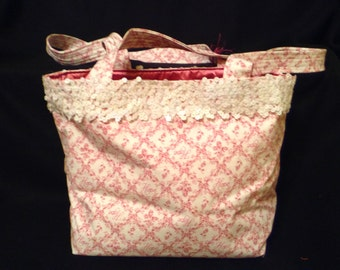 Breast Cancer pink purse/ handbag / tote bag