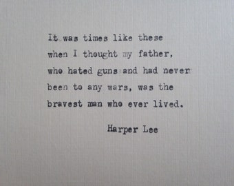 Harper Lee quote hand typed on antique typewriter scrapbooking