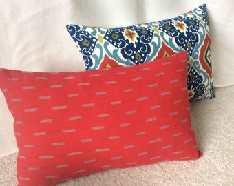 Ethnic Pillow Covers - Blue/Red