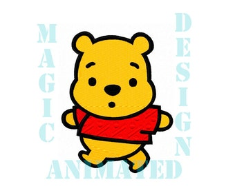 Little Bear Machine Embroidery Design in 2 sizes ---Instant download---