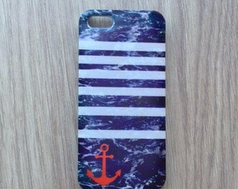 Anchor on sea waves iphone 6 case / iphone 6 plus case / Samsung galaxy S6 case / Samsung galaxy S5 case / iphone 4 5S 5C, S4 note 3 note 4