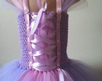 Girls repunzal inspired tutu dress