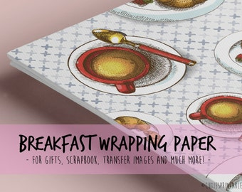 Brioche & Coffe / Printable wrapping paper for Scrapbooking