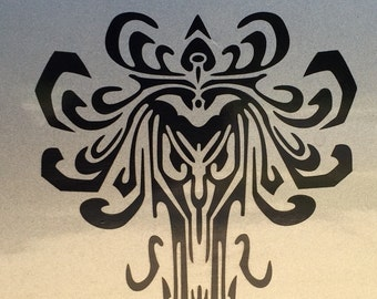 Haunted Mansion Wallpaper Vinyl Car Decal