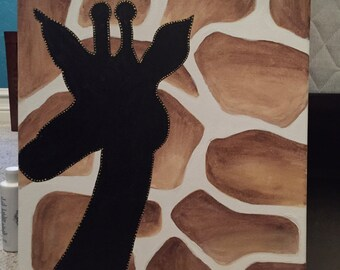 Acrylic giraffe silhouette