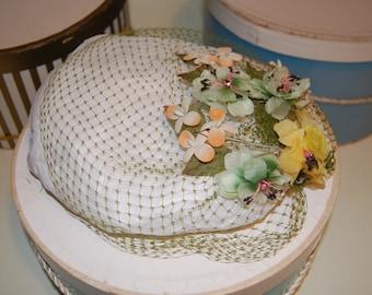 Spring Netting Veil Vintage Hat