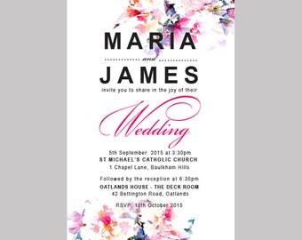 DIY Printable Wedding Invitation