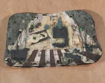 Abbie Lane I iPODDERY Vania Setti Settiarts Ceramics Art Stoneware Plaque