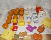 Vintage Happy Meal Transformers toys MC Donalds 1980's Lot Nuggets burgers fries shakes Milk+