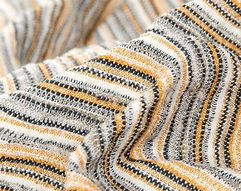 Striped Wool Boucle Fabric; Fashion Fabric with Stripes
