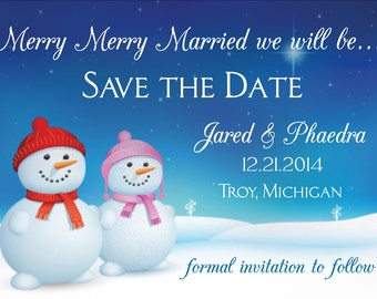Merry Merry Married We Will Be Save the Date