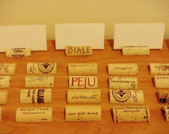 100 Natural Wine Cork Place Card Holders-Wedding Decor
