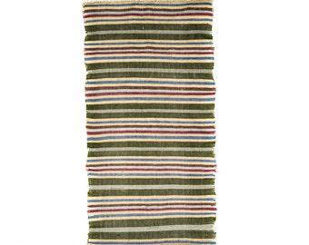 SANUAG Hand Woven Rug Freece Reversible Carpet multicolour 150x74cm