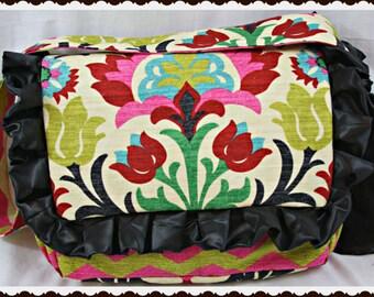 Santa Maria Diaper Bag, Handmade Diaper Bag, Diaper Bag with a lot of Pockets, Fancy Diaper Bags by Ritzy Baby, Messenger Diaper Bags M2M